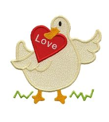Valentine Goose Applique - 3 Sizes! | Words and Phrases | Machine Embroidery Designs | SWAKembroidery.com Applique for Kids