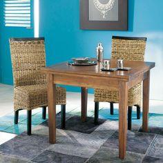 Table de salle à manger à rallonges en bois L 90 cm Table À Manger  Extensible e17daabb5631