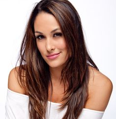 Brie Bella White Light WWE Photo Shoot love the hair color