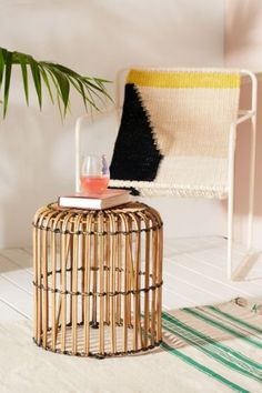 Ryla Rattan Stool | Urban Outfitters