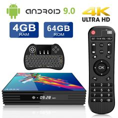 Android 8.1 TV Box 32GB ROM RK3328 Quad-Core 64bit Cortex-A53 CPU,Support 2.4GHz Wifi //3D//4k//USB3.0 //Tastiera retroilluminata wireless 4GB RAM H96 MAX