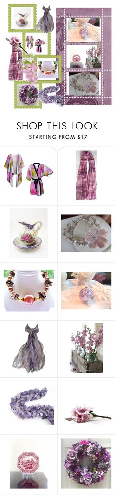 """""""Purple Lavender"""" by anna-recycle ❤ liked on Polyvore featuring Spode, modern, rustic and vintage"""