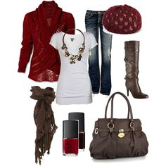 Red, created by chelseawate on Polyvore