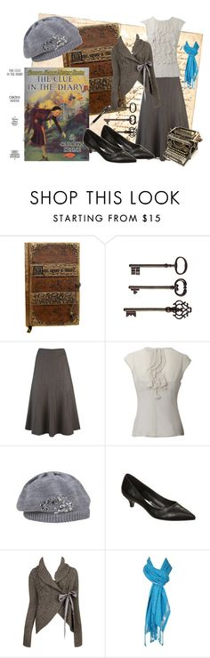 """""""The Clue in the Diary"""" by bramblewoodfashion ❤ liked on Polyvore featuring Ballard Designs, Paul Costelloe, Forever 21, Oasis, ...Lost and nancy drew"""