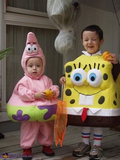 Esther: My son David is Sponge Bob and my son Andrew is Patrick. They are big fans of this Cartoon so Mommy and Daddy decided to go for this theme. Since...