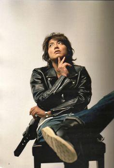 Nice leather jacket Takuya