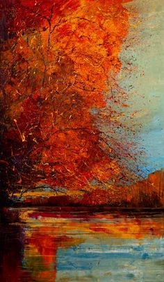 "Saatchi Online Artist: Justyna Kopania; Oil, 2011, Painting ""In October..."" #tree #art"