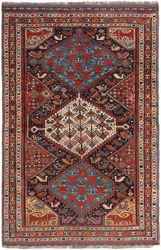 Schuler Auktionen Zürich   Khamse-Ghashghai S-Iran, um 1900 150x230 cm (ft. 5x7.6).