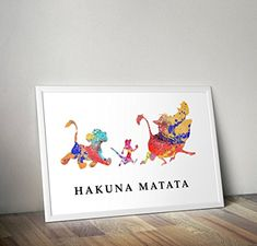 Lion King Inspired Watercolour Poster - Simba - Quote - Alternative TV/Movie Prints in Various Sizes(Frame Not Included) Hakuna Matata, Lion King Poster, Wall Art Prints, Poster Prints, Tv Movie, Le Roi Lion, Movie Prints, All Poster, Frame Shop
