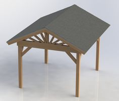 Easy to build Gazebo plans. Gazebo dimensions are 12ft Long x 10ft Wide at the base, the roof has a 12 overhang all the way around so the