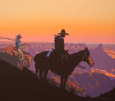 New Mexico artist Billy Schenck's 2012 oil on canvas, Color Me Gone is a contemporary Western masterpiece reinterpreting the mythic American cowboy herding cattle in the iconic, red-walled canyon lands of the American Southwest. Southwestern Art, West Art, New York Art, Le Far West, Horse Art, Western Cowboy, Magazine Art, Cowboys, Illustrators