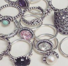 Many Pandora rings