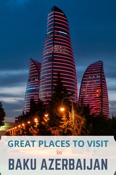 Top places to visit in Baku Azerbaijan - Beyond My Front Door There's a lot to see and do in Baku. Check out the best places to see in Baku to make the most of your time there. Cool Places To Visit, Great Places, Places To Travel, Travel Destinations, Azerbaijan Travel, Baku Azerbaijan, Asia Travel, Solo Travel, Travel Nepal