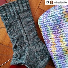 I  this Test Knit by @wheelswife of my new design.  The stitch definition with this yarn is incredible  #Repost @wheelswife with @repostapp  I am lving this Sassenach Sock that I am test knitting for @knitalot924 in Spirit sock yarn from @yarnindulgences...it has yak in it and great stitch definition. The cables are gorgeous.