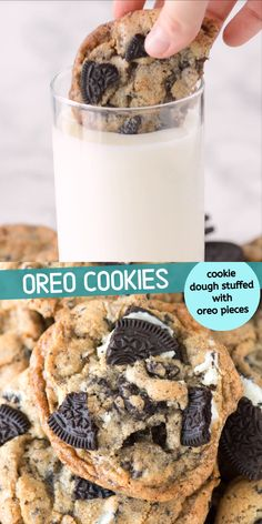 dessert recipes These cookies are loaded with 3 cups of chopped oreos! Some of the best oreo cookies or cookies & cream cookies weve tried! Crispy on the outside and chewy on the inside! Fun Baking Recipes, Easy Cookie Recipes, Easy Desserts, Sweet Recipes, Delicious Desserts, Yummy Food, Oreo Desserts, Recipes With Oreos, Easy Recipes