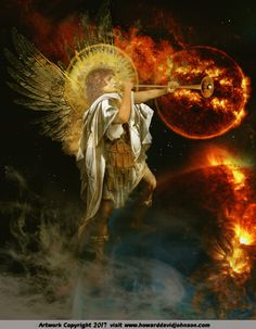 Christian Artwork, Christian Images, Angel Pictures, Jesus Pictures, Book Of Revelation Explained, Revelation Tattoo, Angel Protector, Art Essay, Angel Warrior