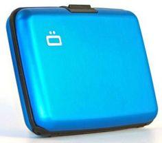 Ogon Aluminum Wallet Blue www.amazon.com/...