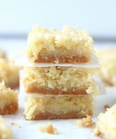 Buttery Coconut Bars