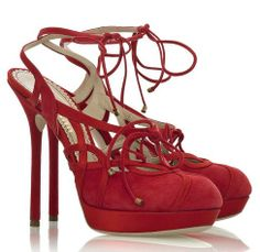 John Galliano Suede cutout sandals