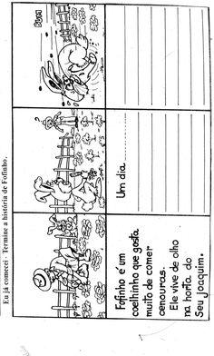 produção de texto para imprimir 4 ano - Pesquisa Google Picture Boards, Material Didático, Learn Portuguese, Writing Activities, Conte, Phonics, Bullying, Professor, Curriculum