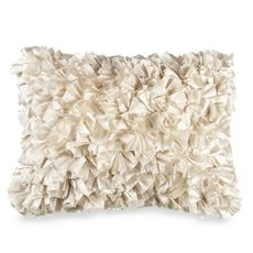 Just bought this and I love it! Now to find matching bedding. Extreme Ruffles 15' x 20' Decorative Toss Pillow - Ivory - Bed Bath & Beyond