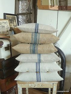 A stack of pillows (from princessgreeneye)