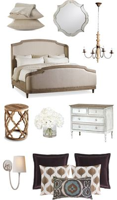 Neutral color inspiration for a master bedroom
