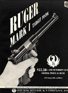 1959 RUGER Mark I Target Pistol PRINT AD : Other Collectibles at GunBroker.com
