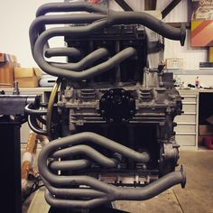 Ceramic coated exhaust manifolds. Flat six. Matching numbers engine.