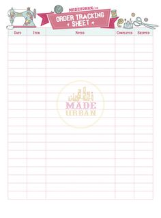 Download a free printable business card fill in your details on the printable order tracking sheet reheart Images