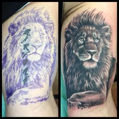 Great cover up by Chad Whitson-Bearcat Tattoo Gallery-Little Italy-San Diego, CA