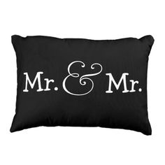 Mr and Mr Two Groom Homosexual Wedding ceremony Present Ornamental Pillow.  Learn even more at the photo