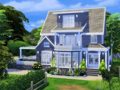 This lovely 1 bedroom, 1 bathroom house is built on a 20x20 lot in Windenburg, and is perfect for a couple! Enjoy quiet summer afternoon by the pool ! Found in TSR Category 'Sims 4 Residential Lots' #housearchitecture
