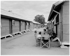 Children at Bonegilla, Victoria, the largest migration reception centre at the time, 19 Photos That Show What Immigration In Australia Used To Be Like Main Street, Street View, Outside Room, Pipe Dream, Lithuania, Tasmania, Hostel, Croatia, Over The Years