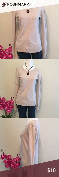 "aBound by Nordstrom women's beige pullover sweater Perfect for Fall & back to school! Women's crew neck beige sweater. Size L, measurements are approximately Length 24"", chest 16"", shoulders 15"", sleeves 27"". 56%cotton, 24% Rayon, 17% Nylon, 3% spandex. Machine wash cold inside out. Dry flat. In excellent used condition. Abound Sweaters Crew & Scoop Necks"