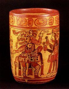 Copador Style Mayan Polychrome Cylinder Vase - PF.2493 Origin: El Salvador/Guatemala/Honduras Circa: 600 AD to 900 AD