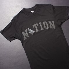 Roc Nation Nation Tee (Black/Black) $45