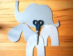 Cookie Cutters, Cardboard Animals, Dinosaur Crafts, Kids Animals, Elephants