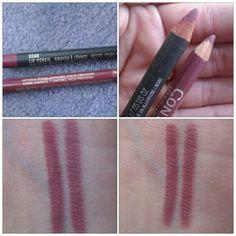 MAC Soar Lip pencil and L'Oreal Lip Liner in Rosewood (similar)