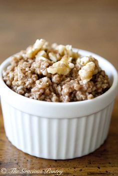 Clean Eating Gingerbread Oatmeal - I just LOVE this time of year!!