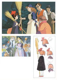 Hayao Miyazaki, Studio Ghibli, Kiki's Delivery Service, The Art of Kiki's Delivery Service, Kiki Okino Kiki Delivery, Kiki's Delivery Service, Ghibli Movies, Hayao Miyazaki, Totoro, Storyboard, Animation Film, Sketches, Manga Anime