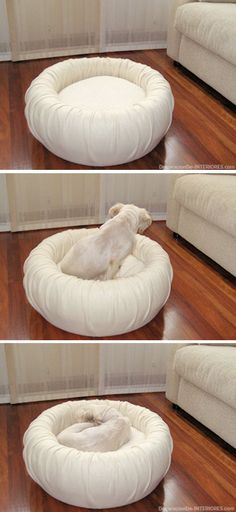 Cama para mascotas, reciclando un neumático • #DIY Dog Bed from a Recycled #Tire