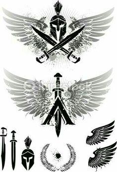 Spartan tattoo designs