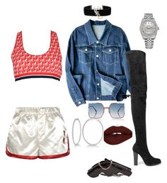 """""""Bad Bad With A Suntan"""" by awande-duma on Polyvore featuring Tommy Hilfiger, Christian Louboutin, Yves Saint Laurent, Fendi and Rolex"""
