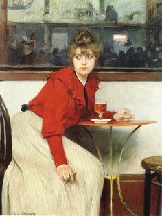 """""""At the Moulin de la Galette""""  Paris 1892  Ramon Casas"""