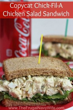 Copycat Chick-Fil-A Chicken Salad Sandwich, this simple and easy Copycat recipe is great when you can't make it out to grab this yummy sandwich! Copycat Chick-Fil-A Chicken Salad Sandwich Stephanie Manley copykatrecipes Copycat Restaurant Recipes C Soup And Sandwich, Chicken Sandwich, Turkey Salad Sandwich, Chicken Salad Recipes, Recipe Chicken, Cooked Chicken, Chic Fil A Chicken Salad Recipe, Chicken Salads, Rotisserie Chicken