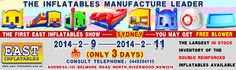 Good News! Various new products have arrived in our Australian Warehouse. We will have a special price in 2014-2-9--2014-2-11(only 3 days),welcome to our warehouse:7/100 belmore road north,riverwood.nsw 2210. They are all on sale now. What are you waiting for? casa de la despedida, castillo de salto, diapositiva inflable del agua, cursos inflables de los obstáculos para la venta