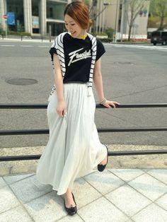 ショップスタッフ Hama│ROSSOのTシャツ・カットソーコーディネイト-WEAR