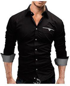 e58d15faf 2018 Autumn Fashion Shirts Men Casual Brand Clothing Men Shirt Solid C –  dresslliy