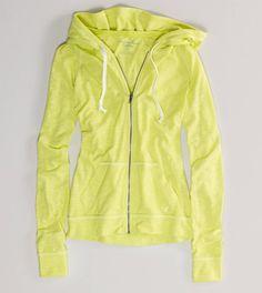 Neon Jersey Zip Hoodie - AMERICAN EAGLE